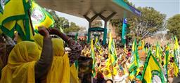 ਲਹਿਰਾਗਾਗਾ: ਰਿਲਾਇੰਸ ਪੈਟਰੋਲ ਪੰਪ ਅੱਗੇ ਕਿਸਾਨਾਂ ਦਾ ਧਰਨਾ ਜਾਰੀ